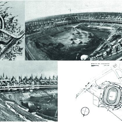 Dos jugadas, un edificio: la construcción del Estadio Azteca