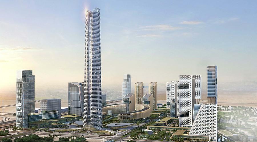 Rascacielos en la Nueva Capital Administrativa en Egipto